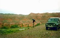 Charyn Canyon by rain
